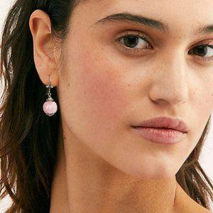 FP Silver Earrings Natural Rose Quartz